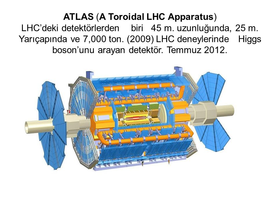 ATLAS (A Toroidal LHC Apparatus) LHC'deki detektörlerden biri 45 m