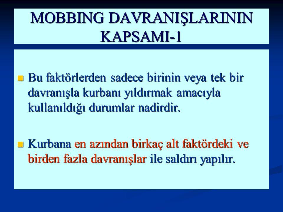 MOBBING DAVRANIŞLARININ KAPSAMI-1