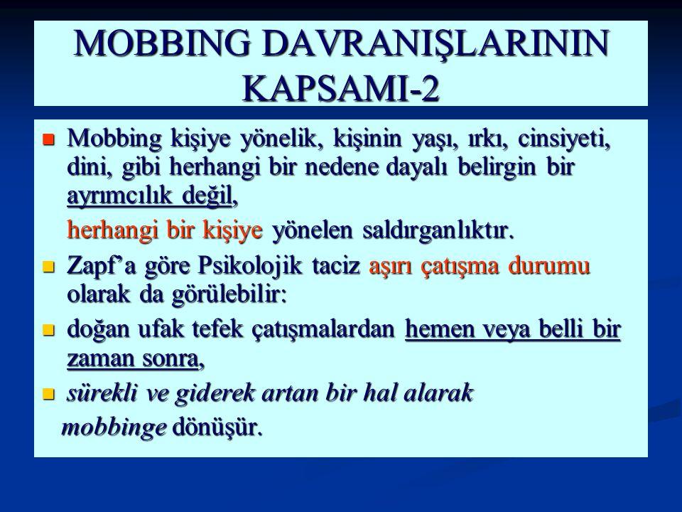 MOBBING DAVRANIŞLARININ KAPSAMI-2
