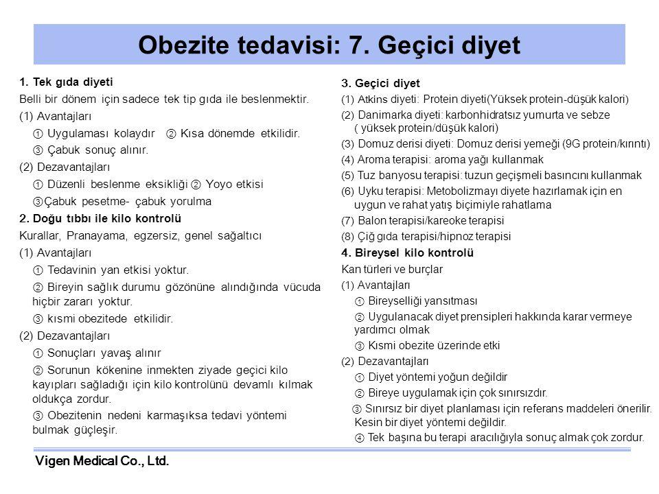 Obezite tedavisi: 7. Geçici diyet