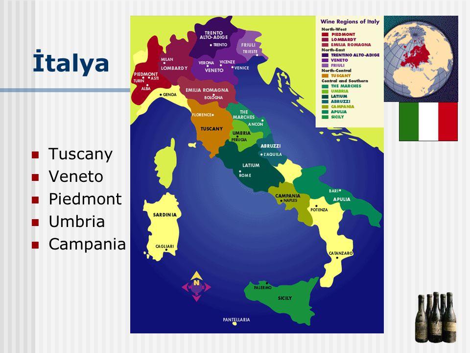 İtalya Tuscany Veneto Piedmont Umbria Campania