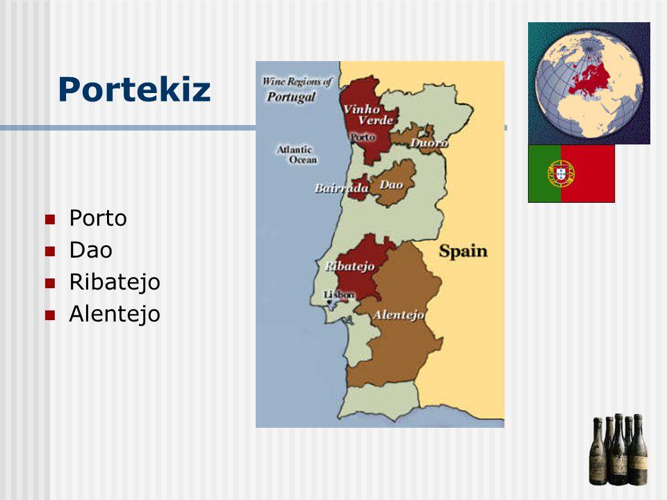 Portekiz Porto Dao Ribatejo Alentejo