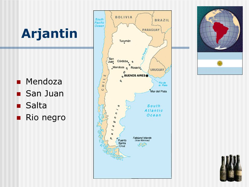 Arjantin Mendoza San Juan Salta Rio negro