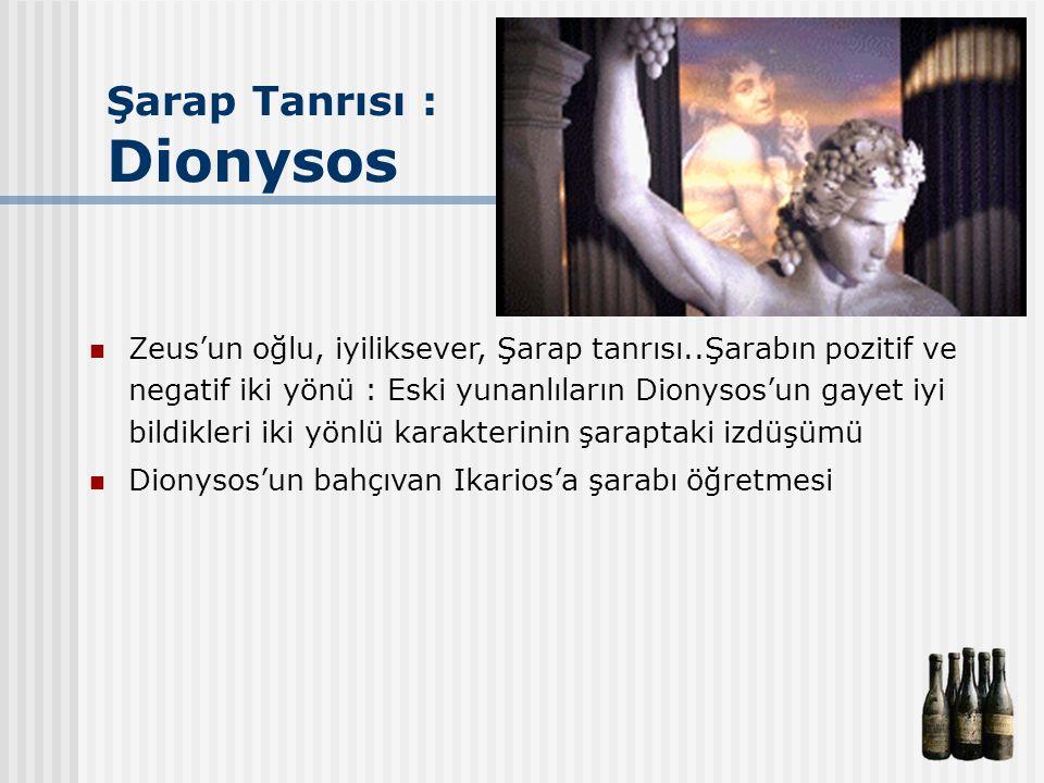 Şarap Tanrısı : Dionysos