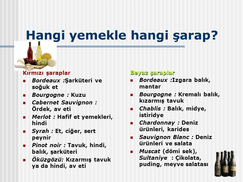 Hangi yemekle hangi şarap