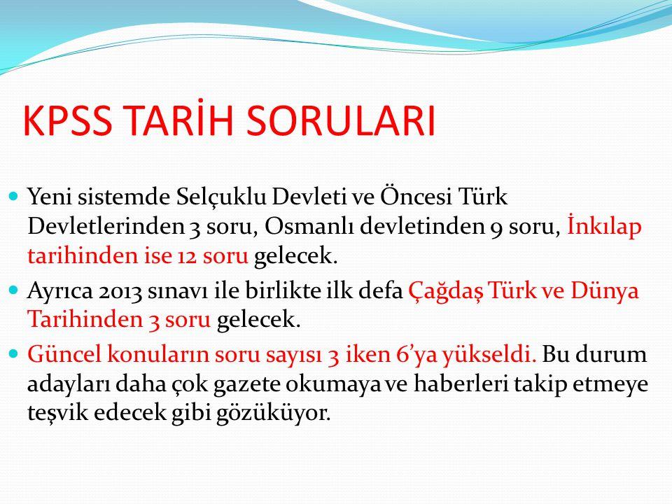 KPSS TARİH SORULARI