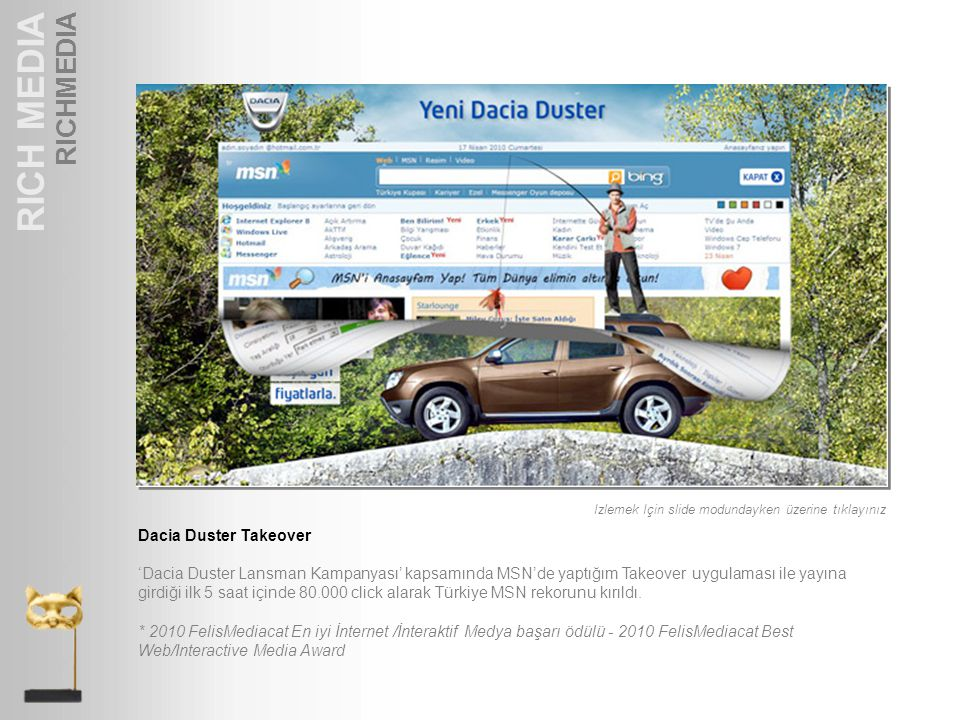 RICH MEDIA RICHMEDIA Dacia Duster Takeover