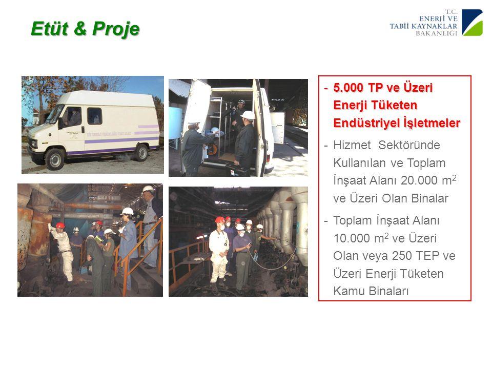 Etüt & Proje 5.000 TP ve Üzeri Enerji Tüketen Endüstriyel İşletmeler