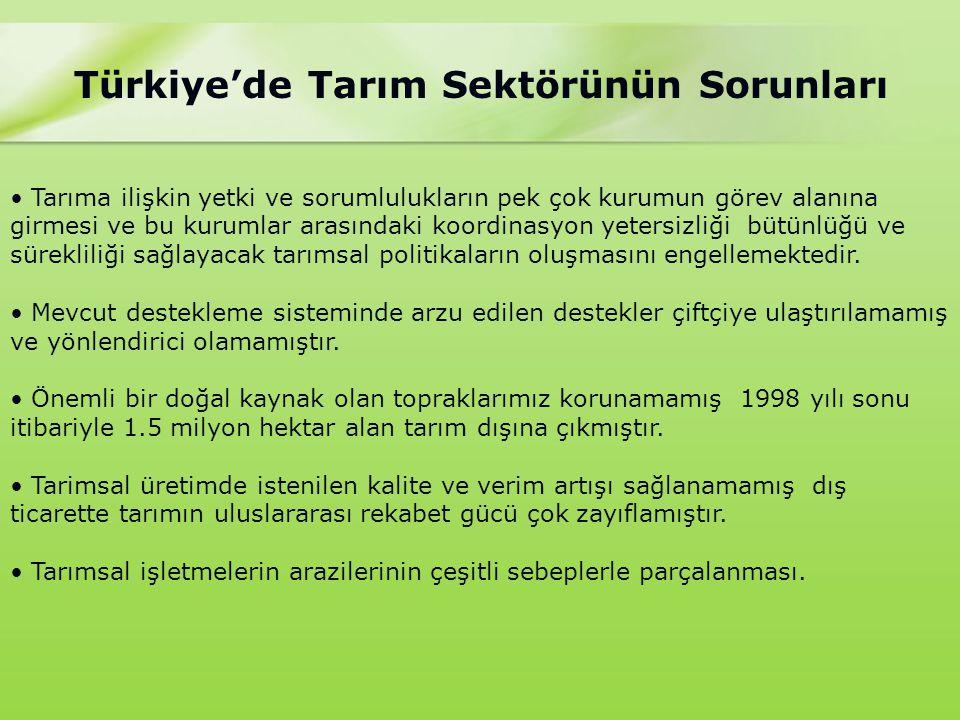 Türkiye'de Tarım Sektörünün Sorunları