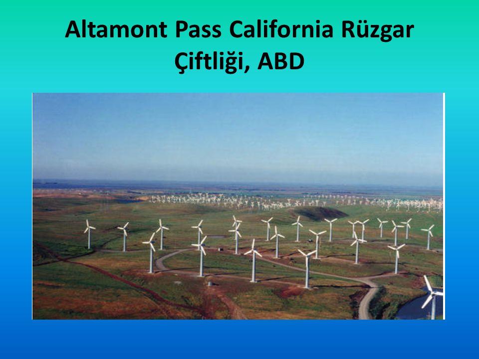 Altamont Pass California Rüzgar Çiftliği, ABD