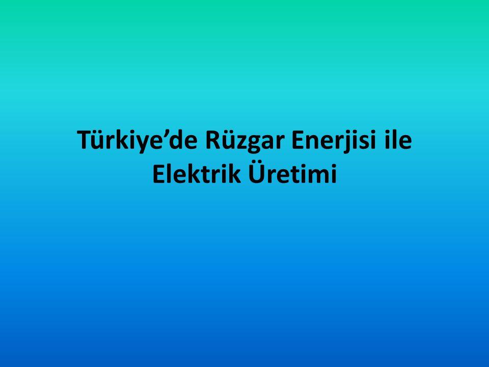 Türkiye'de Rüzgar Enerjisi ile Elektrik Üretimi