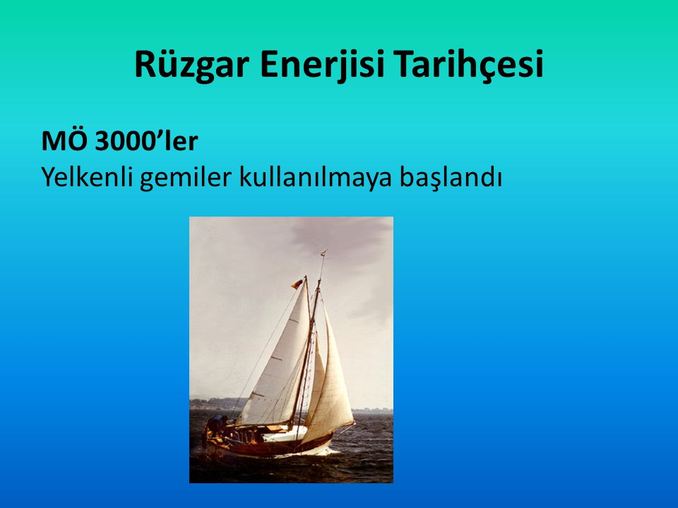 Rüzgar Enerjisi Tarihçesi