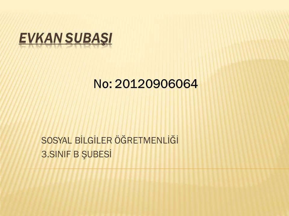 SOSYAL BİLGİLER ÖĞRETMENLİĞİ 3.SINIF B ŞUBESİ