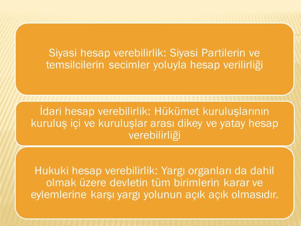 Siyasi hesap verebilirlik: Siyasi Partilerin ve temsilcilerin secimler yoluyla hesap verilirliği