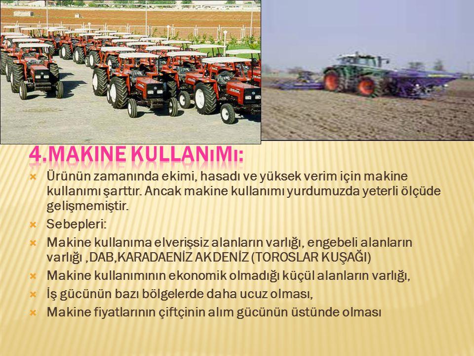 4.Makine Kullanımı: