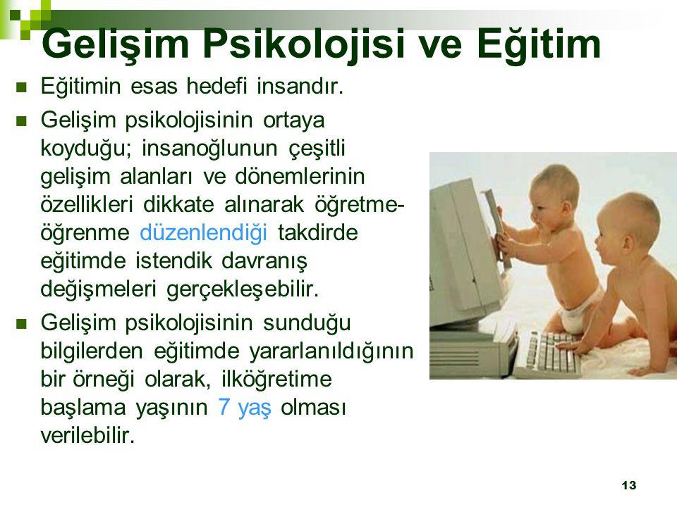 Gelişim Psikolojisi ve Eğitim
