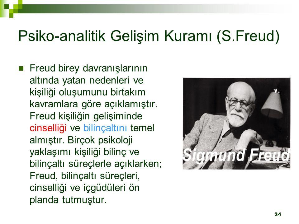 Psiko-analitik Gelişim Kuramı (S.Freud)
