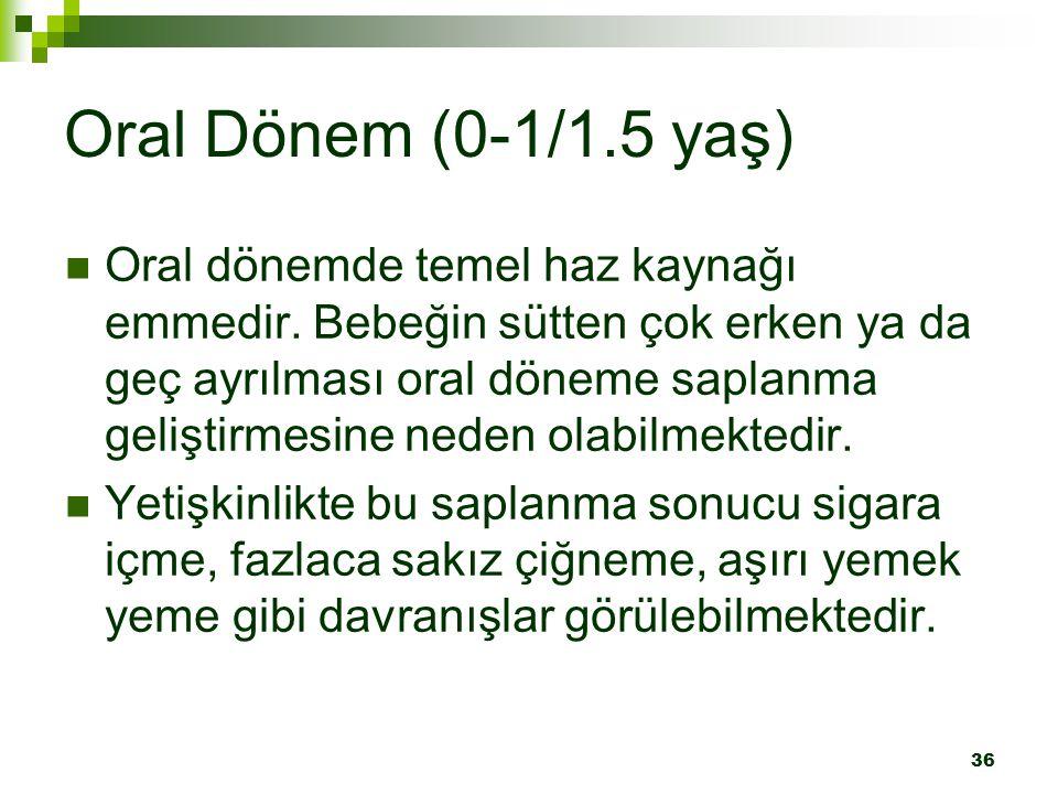 Oral Dönem (0-1/1.5 yaş)