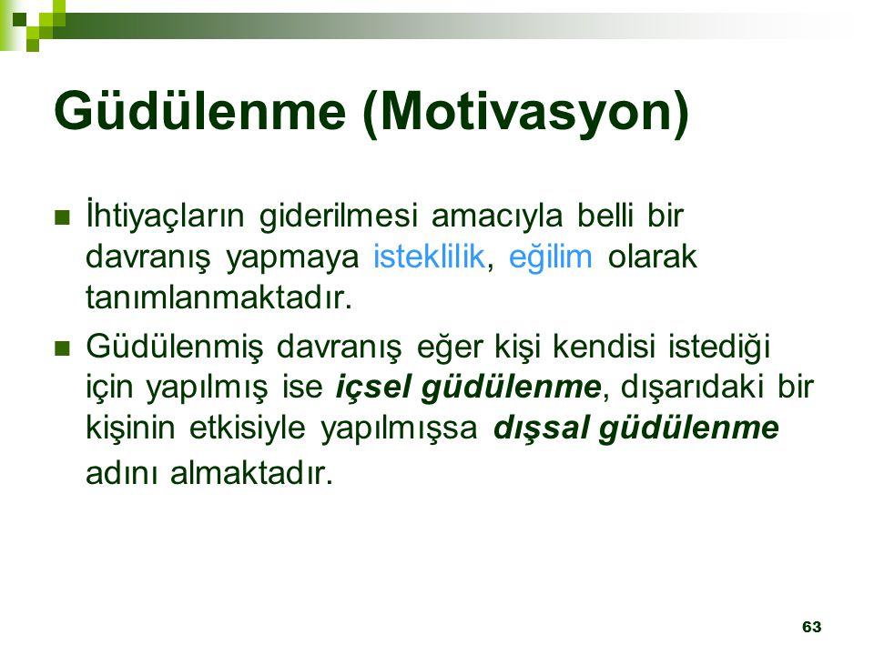Güdülenme (Motivasyon)