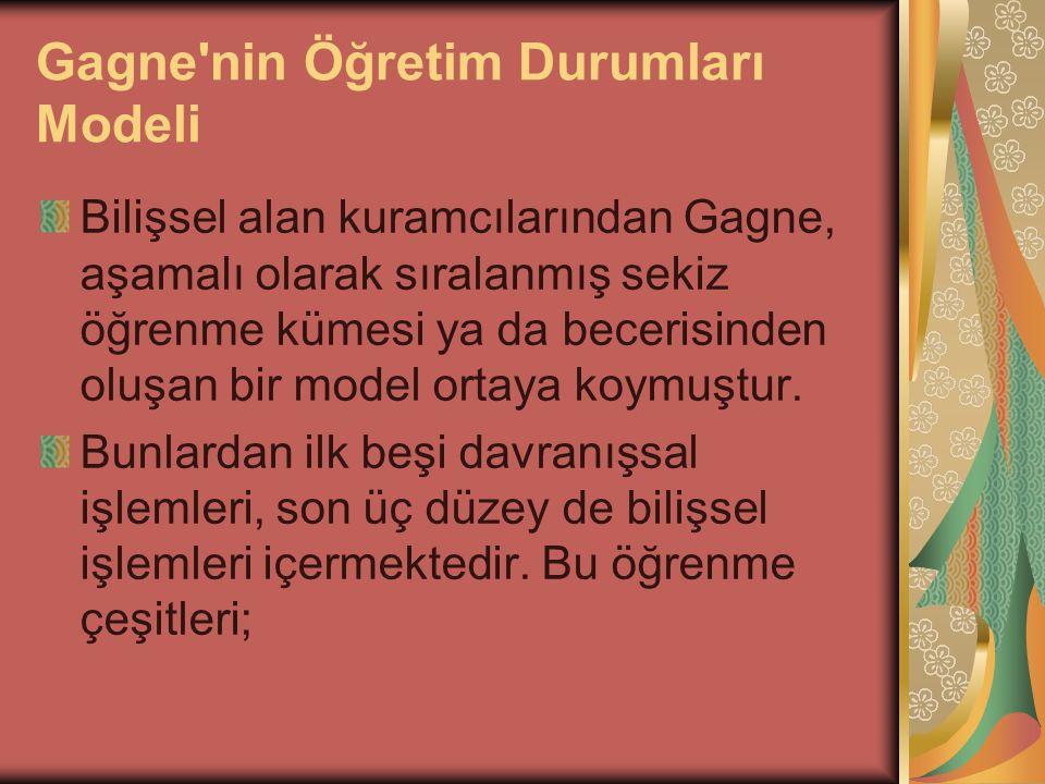 Gagne nin Öğretim Durumları Modeli