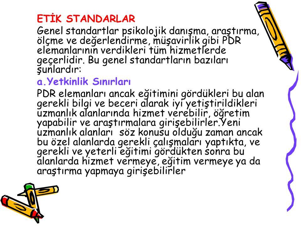 ETİK STANDARLAR