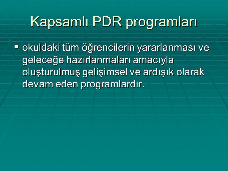 Kapsamlı PDR programları