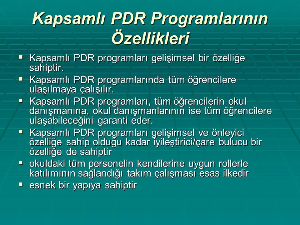 Kapsamlı PDR Programlarının Özellikleri