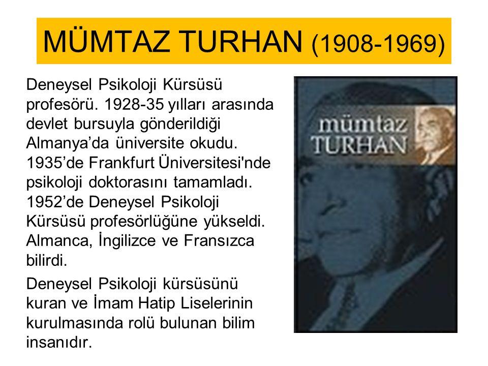 MÜMTAZ TURHAN (1908-1969)