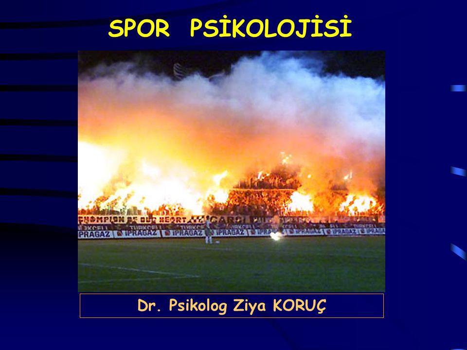 SPOR PSİKOLOJİSİ Dr. Psikolog Ziya KORUÇ