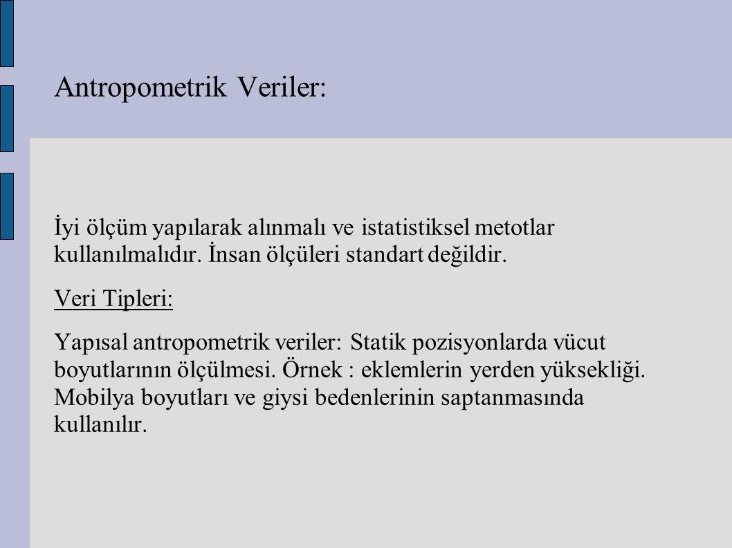 Antropometrik Veriler: