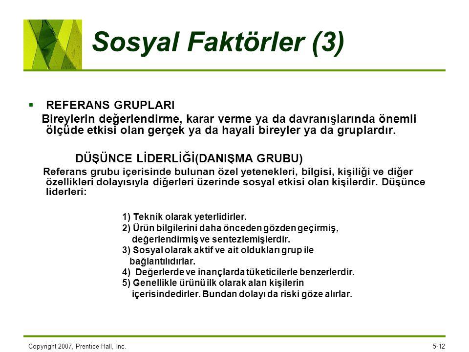 Sosyal Faktörler (3) REFERANS GRUPLARI