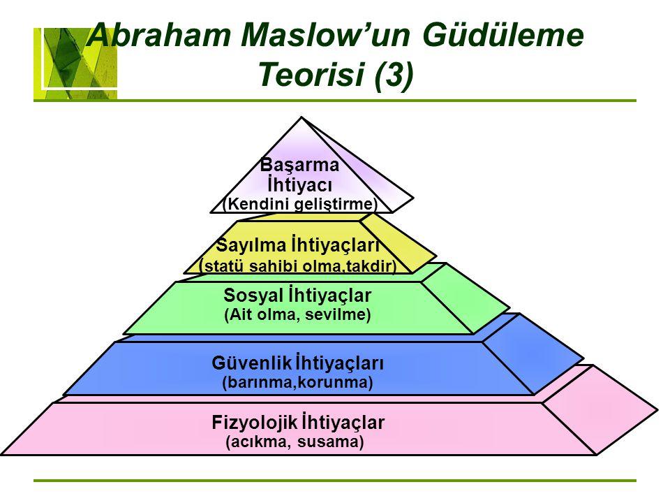 Abraham Maslow'un Güdüleme Teorisi (3)