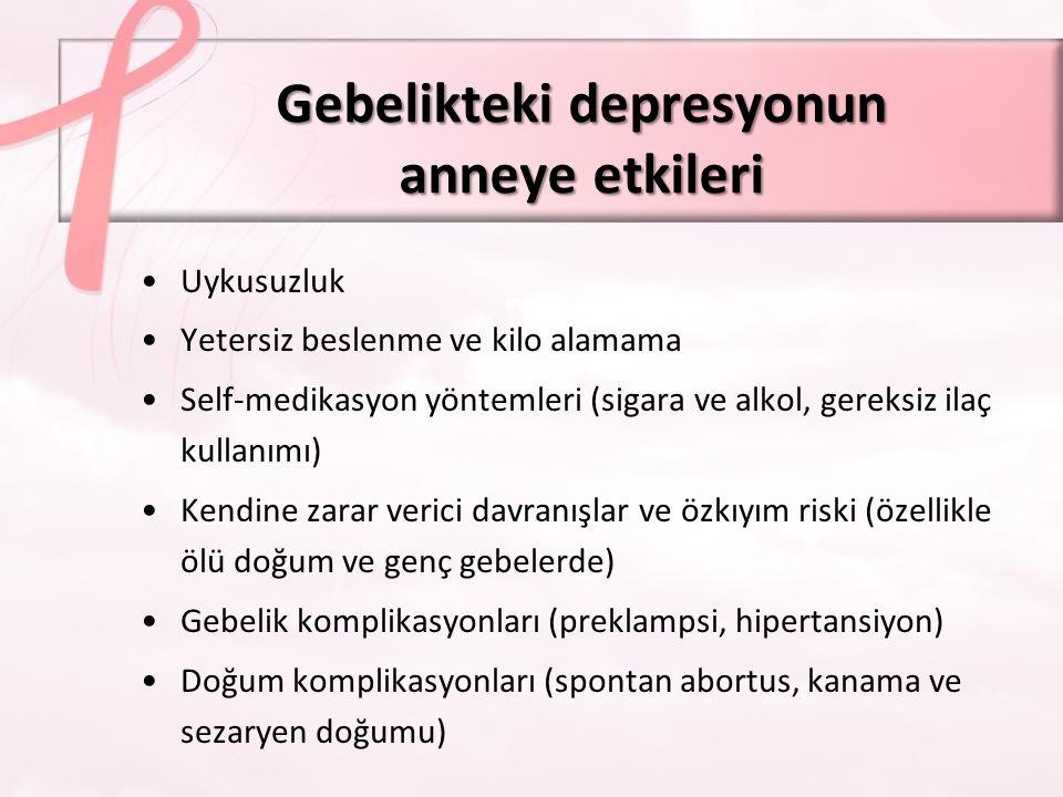 Gebelikteki depresyonun anneye etkileri