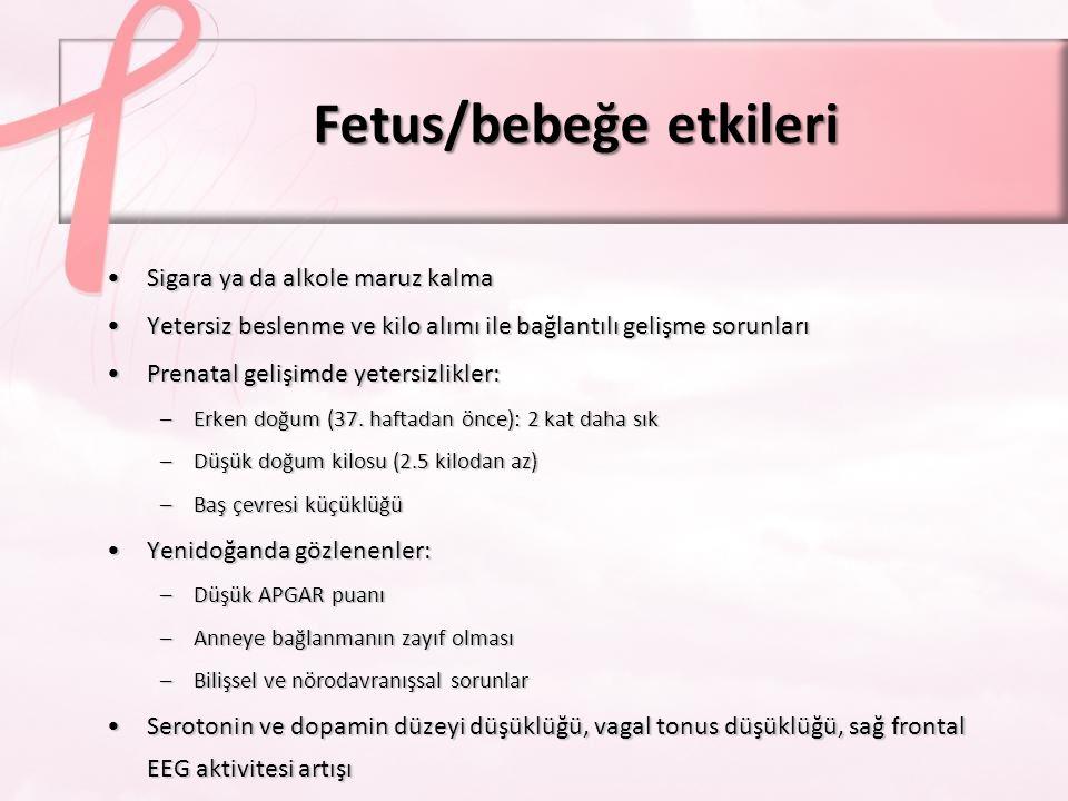 Fetus/bebeğe etkileri