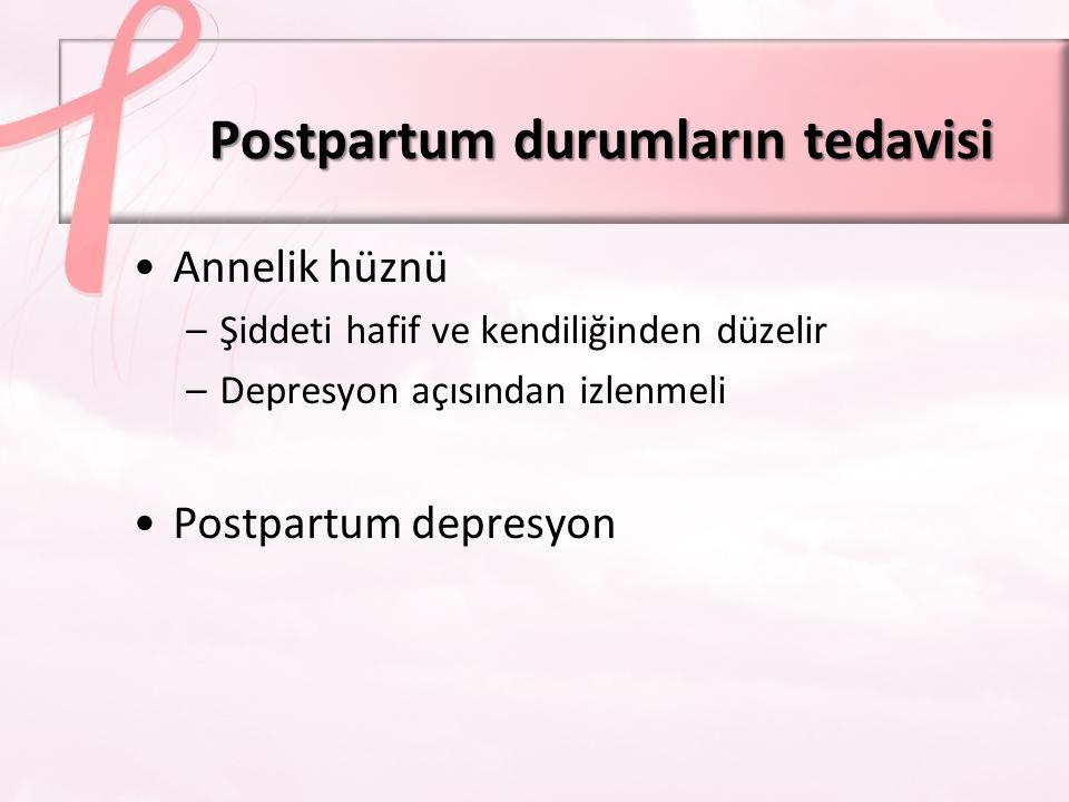 Postpartum durumların tedavisi