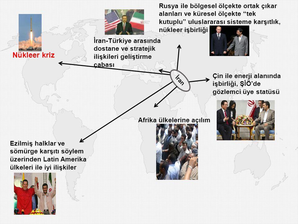 Rusya ile bölgesel ölçekte ortak çıkar alanları ve küresel ölçekte tek kutuplu uluslararası sisteme karşıtlık, nükleer işbirliği