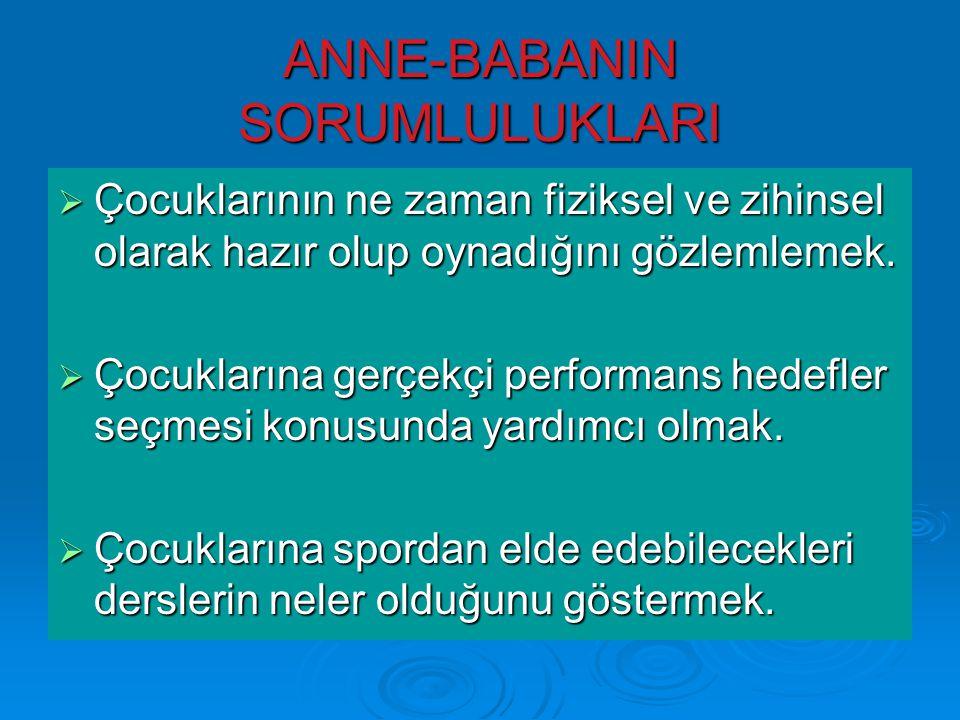 ANNE-BABANIN SORUMLULUKLARI