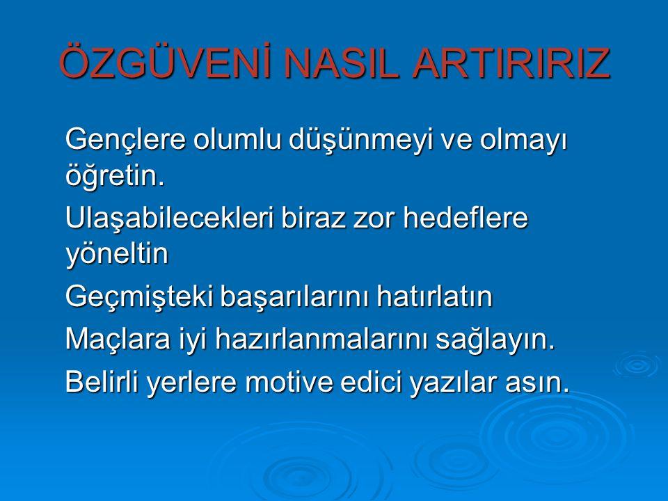 ÖZGÜVENİ NASIL ARTIRIRIZ