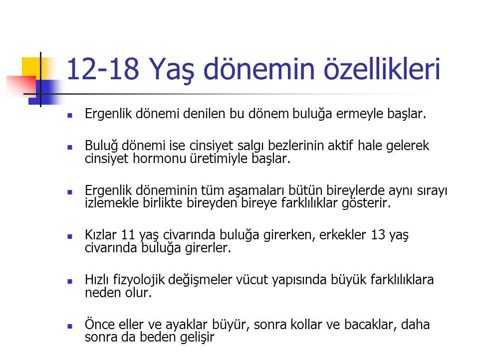 12-18 Yaş dönemin özellikleri