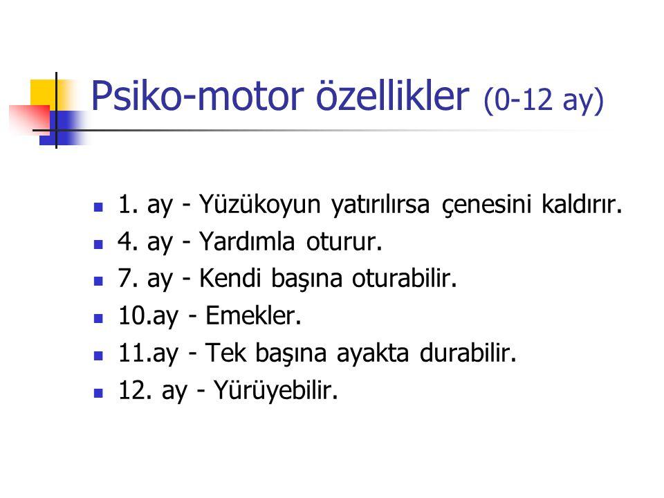 Psiko-motor özellikler (0-12 ay)