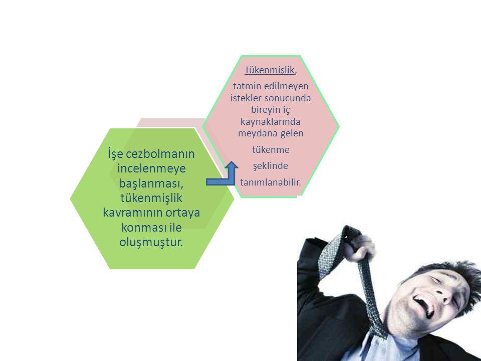İşe cezbolmanın incelenmeye başlanması, tükenmişlik kavramının ortaya konması ile oluşmuştur.
