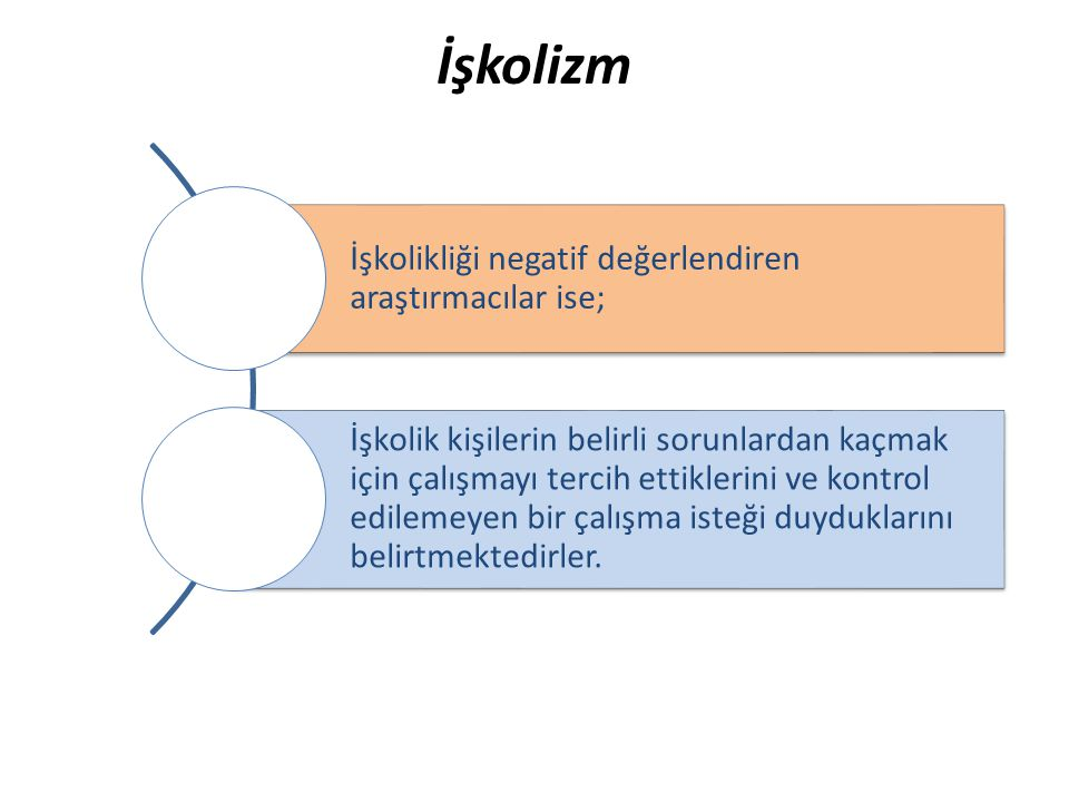 İşkolizm İşkolikliği negatif değerlendiren araştırmacılar ise;