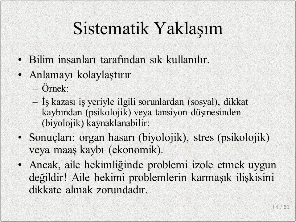 Sistematik Yaklaşım Bilim insanları tarafından sık kullanılır.