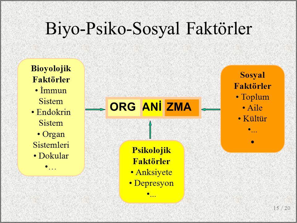 Biyo-Psiko-Sosyal Faktörler