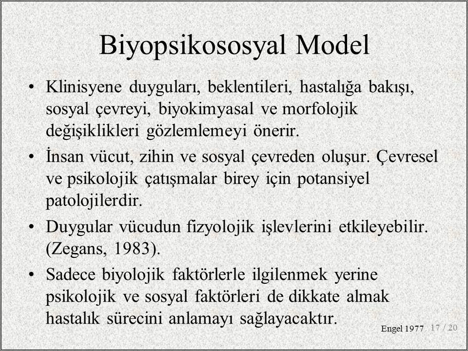 Biyopsikososyal Model