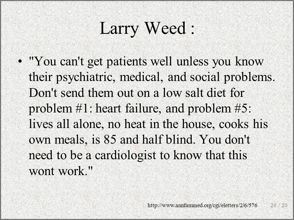 Larry Weed :