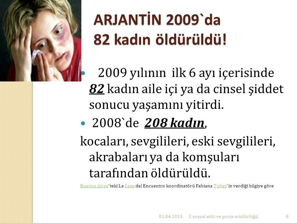 ARJANTİN 2009`da 82 kadın öldürüldü!