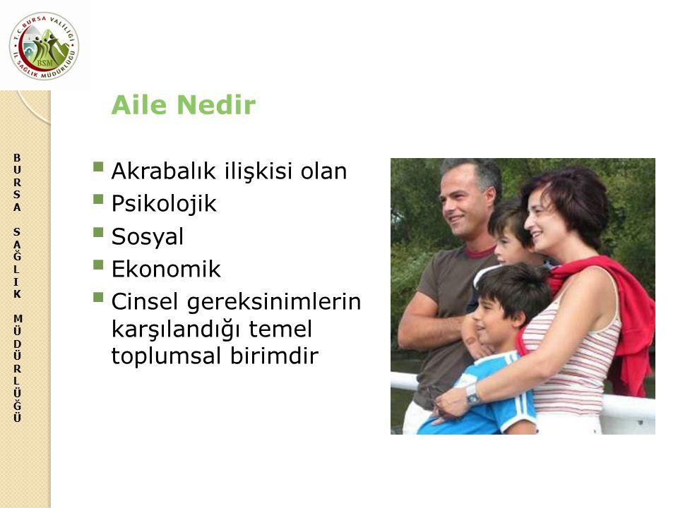Aile Nedir Akrabalık ilişkisi olan Psikolojik Sosyal Ekonomik
