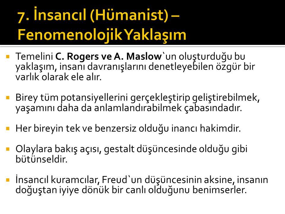 7. İnsancıl (Hümanist) – Fenomenolojik Yaklaşım
