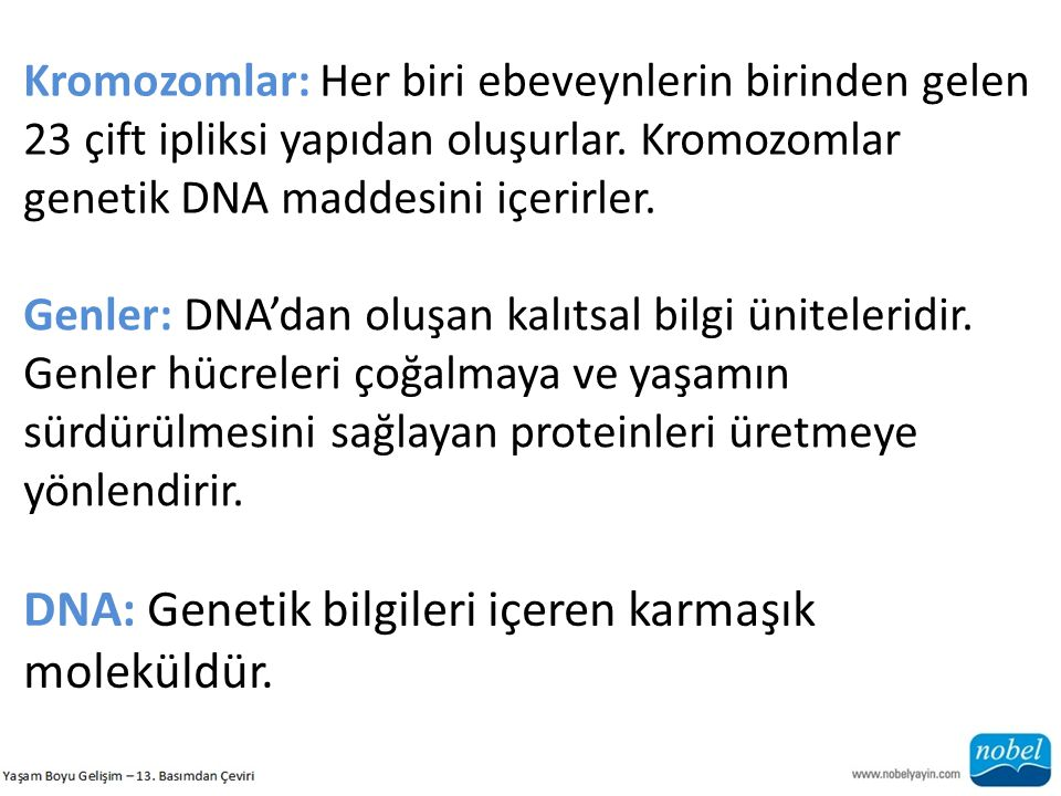 DNA: Genetik bilgileri içeren karmaşık moleküldür.